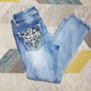 Grace in LA Capri Jeans Cross 29